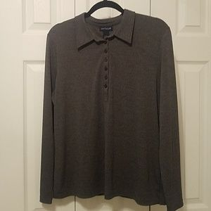 Ann Taylor Gray top size large